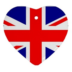 Union Jack Flag Heart Ornament (Two Sides)