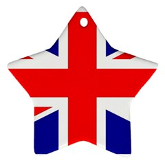 Union Jack Flag Star Ornament (Two Sides)