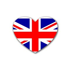 Union Jack Flag Heart Coaster (4 pack)