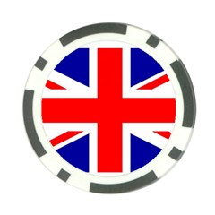 Union Jack Flag Poker Chip Card Guard (10 Pack)