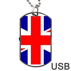 Union Jack Flag Dog Tag USB Flash (One Side)