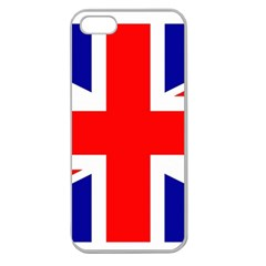 Union Jack Flag Apple Seamless iPhone 5 Case (Clear)