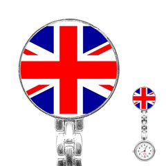 Union Jack Flag Stainless Steel Nurses Watch