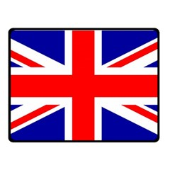 Union Jack Flag Double Sided Fleece Blanket (small)