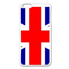 Union Jack Flag Apple iPhone 6 Plus/6S Plus Enamel White Case