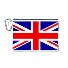 Union Jack Flag Canvas Cosmetic Bag (m)