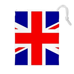 Union Jack Flag Drawstring Pouches (Extra Large)
