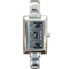 Vintage Tape Recorder Rectangle Italian Charm Watch