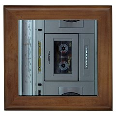 Vintage Tape Recorder Framed Tiles