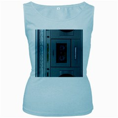 Vintage Tape Recorder Women s Baby Blue Tank Top