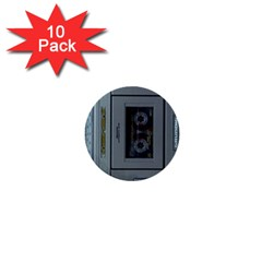 Vintage Tape Recorder 1  Mini Buttons (10 pack)