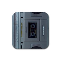 Vintage Tape Recorder Rubber Square Coaster (4 pack)