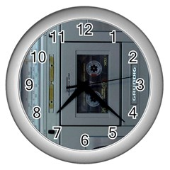 Vintage Tape Recorder Wall Clocks (Silver)