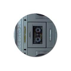 Vintage Tape Recorder Magnet 3  (Round)