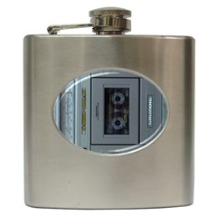 Vintage Tape Recorder Hip Flask (6 oz)