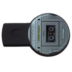 Vintage Tape Recorder USB Flash Drive Round (2 GB)