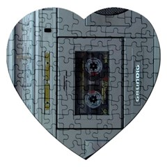 Vintage Tape Recorder Jigsaw Puzzle (heart)