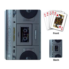 Vintage Tape Recorder Playing Card