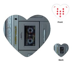 Vintage Tape Recorder Playing Cards (Heart)