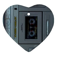 Vintage Tape Recorder Heart Ornament (Two Sides)