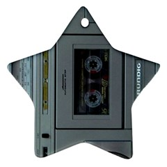 Vintage Tape Recorder Star Ornament (Two Sides)