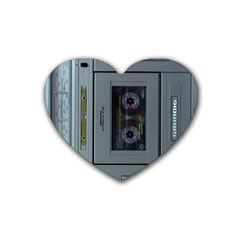 Vintage Tape Recorder Rubber Coaster (Heart)