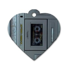 Vintage Tape Recorder Dog Tag Heart (one Side)