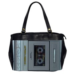Vintage Tape Recorder Office Handbags (2 Sides)