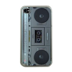 Vintage Tape Recorder Apple iPhone 4 Case (Clear)