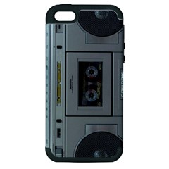 Vintage Tape Recorder Apple iPhone 5 Hardshell Case (PC+Silicone)