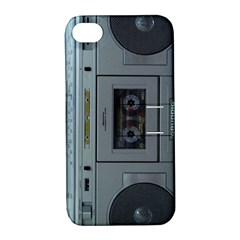 Vintage Tape Recorder Apple iPhone 4/4S Hardshell Case with Stand