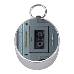 Vintage Tape Recorder Mini Silver Compasses
