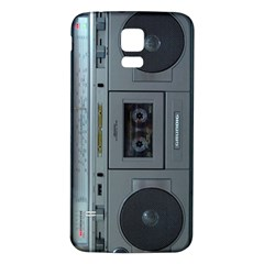 Vintage Tape Recorder Samsung Galaxy S5 Back Case (white)