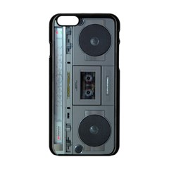 Vintage Tape Recorder Apple iPhone 6/6S Black Enamel Case