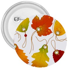 Vector Beautiful Maple Leaf 3  Buttons
