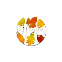 Vector Beautiful Maple Leaf Golf Ball Marker (4 pack)