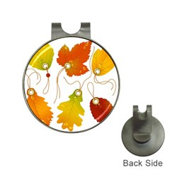 Vector Beautiful Maple Leaf Hat Clips With Golf Markers