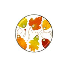 Vector Beautiful Maple Leaf Hat Clip Ball Marker