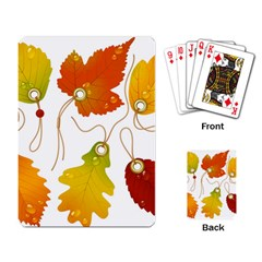 Vector Beautiful Maple Leaf Playing Card
