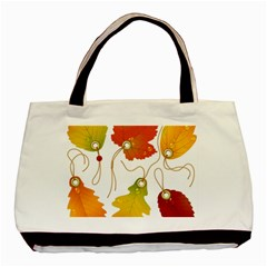 Vector Beautiful Maple Leaf Basic Tote Bag