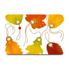 Vector Beautiful Maple Leaf Plate Mats