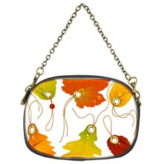 Vector Beautiful Maple Leaf Chain Purses (One Side)