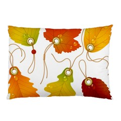 Vector Beautiful Maple Leaf Pillow Case
