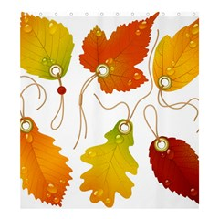 Vector Beautiful Maple Leaf Shower Curtain 66  x 72  (Large)