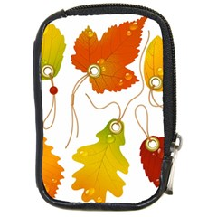 Vector Beautiful Maple Leaf Compact Camera Cases
