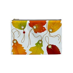 Vector Beautiful Maple Leaf Cosmetic Bag (Medium)