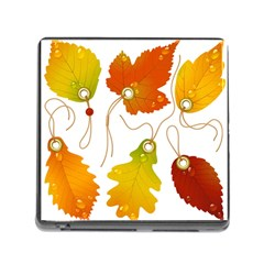 Vector Beautiful Maple Leaf Memory Card Reader (Square)