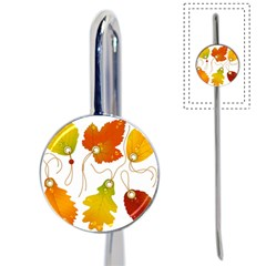 Vector Beautiful Maple Leaf Book Mark