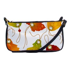 Vector Beautiful Maple Leaf Shoulder Clutch Bags