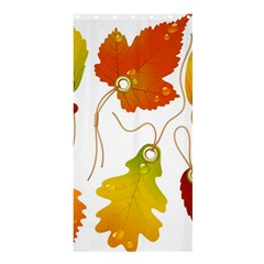 Vector Beautiful Maple Leaf Shower Curtain 36  x 72  (Stall)